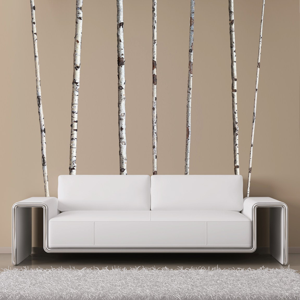 Summer Birch Trees Wall Decals 9 Ft Tall Quantity Of 7