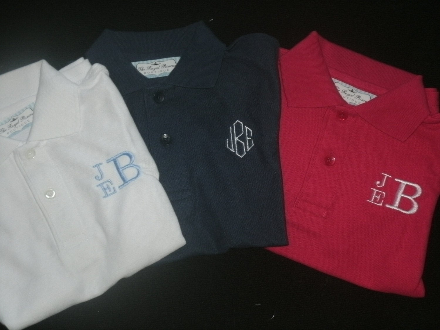 Toddler youth monogrammed polo shirt personalized school for Personalized polo shirts for toddlers