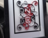 NC State quilled logo