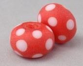 Earring Pair - 2 handmade lampwork beads - E 76