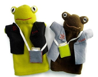 Frog and Toad Hand Puppets - Original Lobel Characters of Storybook Fame/ Frogs and Toads