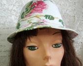Vintage little Garden Hat - Roses and Brim - Estate Find