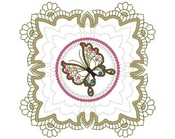 Machine Embroidery Design- Butterfly 04-Quilt Block-3 sizes included!