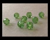 4mm Peridot Swarovski Round Beads - (24)