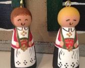 Norwegian Bunad Girl Ornament Small