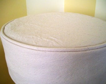 Round Bar Stool Slipcover with Cushion, Round Barstool Cover, Barstool Slipcover