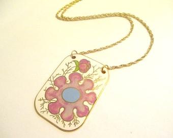 Vintage 70's Floral Pendant DEADSTOCK