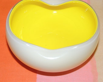 Mid Century Modern Yellow Glass Bowl