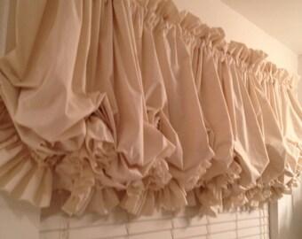 Single Ruffle Muslin Balloon Curtain