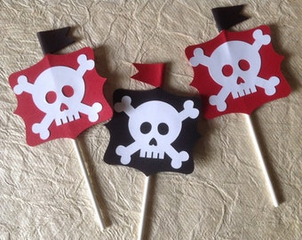 Pirate Cupcake Toppers - Pkg of 12