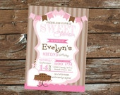 Girl Sweet Shoppe or Milk and Cookies Birthday Invitation - Print Your Own