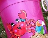 Girl Crab Beach Bucket by Crayon Princess