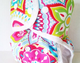 Baby Girl Cloth Diaper or One Size Cloth Diaper Cover for Baby for Prefolds and Inserts, AI2