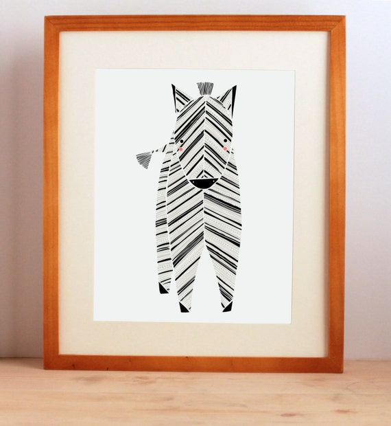 Zoo Nursery Art, Zebra, Safari Nursery Art, Zoo Animal Print, Baby Animal Art, Boy, Girl, Safari Zebra Art Print, Childrens Wall Decor, Zoo