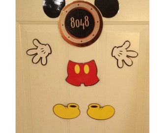 Mickey Mouse Body Part Stateroom Door Magnets for Disney Cruise