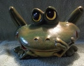 Cute Frog  Made of Ceramic Frogs