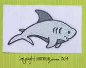 Shark Embroidery Design, INSTANT DOWNLOAD, Sea Creatures for Machine Embroidery 4x4