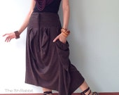 Happiness..Asymmetrical skirt in Chocolate Brown