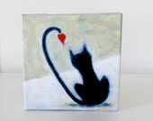 Love Cat 3 - Small Original Painting