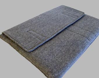 Surface Pro 4 Case, Microsoft Surface Case, Surface Book Case, Surface Sleeve, Surface Cover, Surface Pro 2 3 4 Case Wool Blue Herringbone
