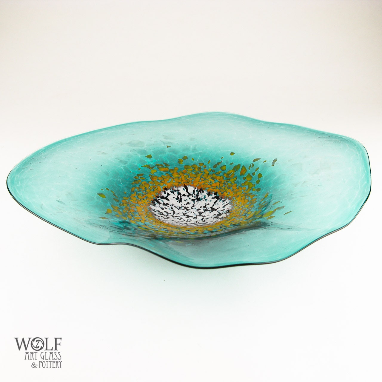 Blown Glass Wall Decor : Blown glass wall art poppy flower deep teal by wolfartglass