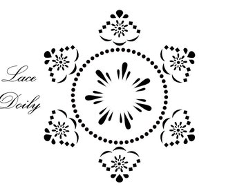 Beautiful decorative furniture stencils for painted furniture and fabric