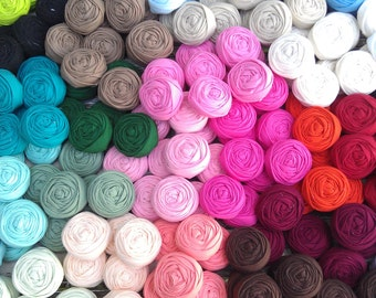 25 fabric rosettes- YOU PICK your colors