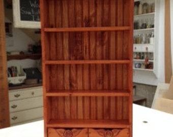 Tea cup shelf, 12 cups with drawers.