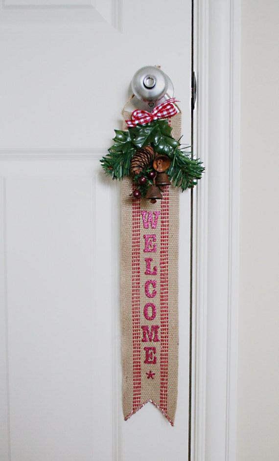 Jute Upholstery Webbing Holiday Banner Decoration ornament gift ideas