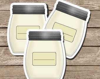 PRINTABLE Mason Jar Labels Stickers Tags Digital Download Sheet 9 Labels 2x2,5 Inches each