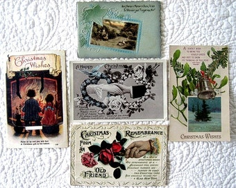 Vintage Postcard Lot EARLY CENTURY Souvenir Nostalgic IRISH Christmas Holiday Blessings