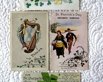 Vintage Postcard Lot EARLY CENTURY Souvenir Nostalgic IRISH St. Patricks Day Holiday Blessings