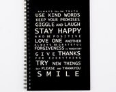 Spiral Writing Journal A5 - Family Rules