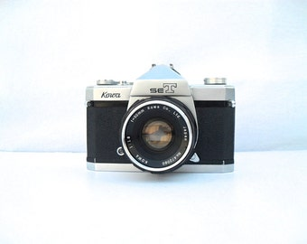 Vintage 1960's Kowa SeT Camera and Front Converter 50mm lens SLR camera