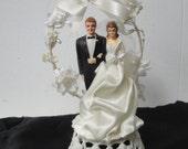 Vtg Mid Century 1959 Bride and Groom Wedding Cake Topper RESERVED FOR SAMANTHA