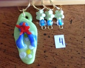 Life is Stitchin stitch markers - set of 4 markers
