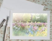 Flower Photo Notecard - Floral Garden Photography, Note Card, Stationery, Blank Notecard