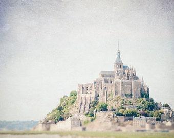 France Photography - Mont Saint Michel, Fine Art Travel Photograph, French Decor, Landscape, Large Wall Art