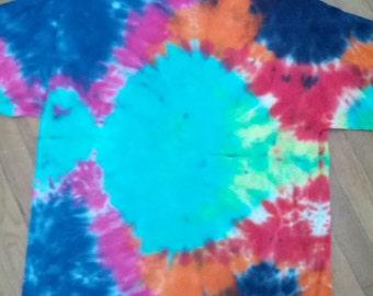 men's tie dye tshirt shirt hippie stoner psychedelic skater surfer boho grunge