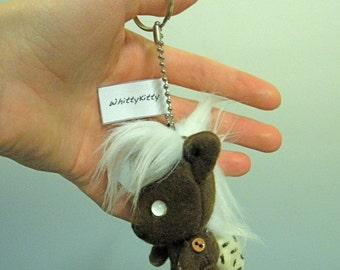 Vanilla Frost Miniature Keychain Pony Plush