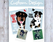 Custom Pet Portrait,  Featuring Your Dog & the Quote of Your Choice, Custom Dog Portrait, Pet Lover Gift, Custom, Pet Memorial, Dog Memorial