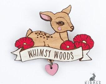 Whimsy Woods Souvenir Deer Brooch