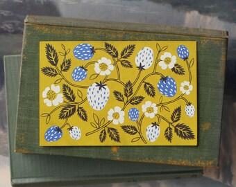 Strawberry Blue // Single Card // Fawnsberg Stationery