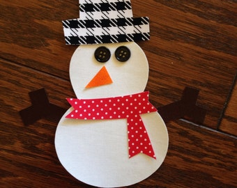 Snowman Iron On Applique, You Choose Fabric