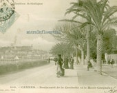 Vintage, Antique, 1900's,100 years old,  Cannes, France, Seaside, Postcard, Collectible, History, Mystery