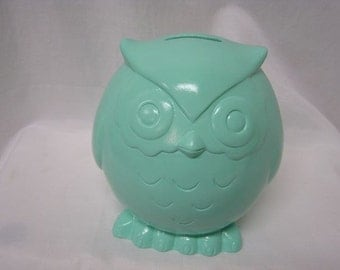 Baby Owl Bank Mint Green