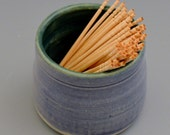 Periwinkle Blue and Dark Green Toothpick Holder