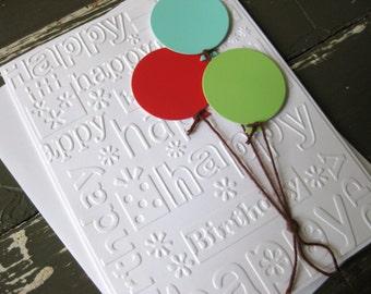 Bright Balloons - Handmade Birthday Card