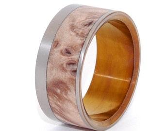 wedding rings, titanium rings, wood rings, mens rings, womens ring, Titanium Wedding Bands, Eco-Friendly Rings - PURR