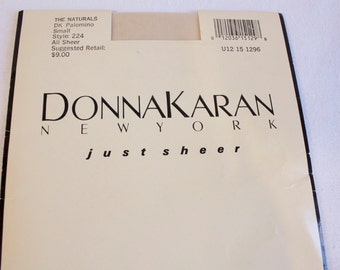Vintage Donna Karan Just Sheer Pantyhose size small unopened